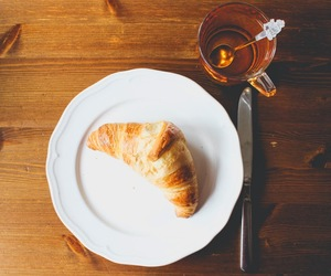 breakfast, brown, and croissant image