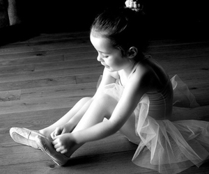 balerina, girl, and black and white image