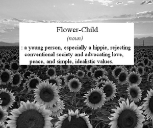 flower child, hippie, and flowers image