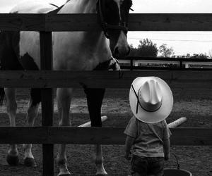 horse, boy, and cowboy image