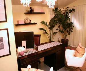home office, interior design, and office image