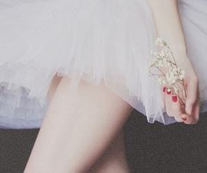 ballet, flowers, and white image