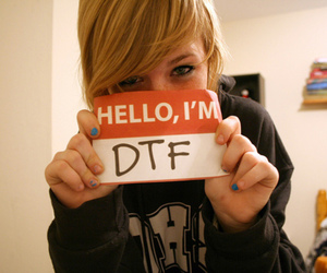 girl, dtf, and blonde image