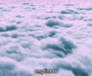 emptiness, clouds, and sky image
