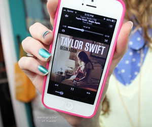 Taylor Swift, iphone, and music image