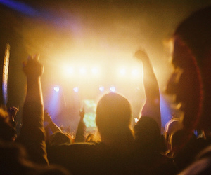 concert, crowd, and people image