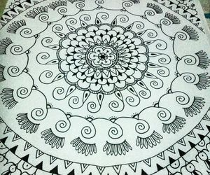 hipster, mandala, and art image