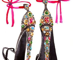 jewels, hot heels, and crystal heels image