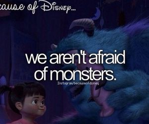 boo, mosters inc, and because of disney image