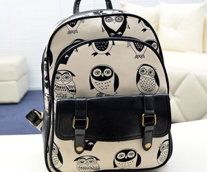 backpack, cartoon, and owl image