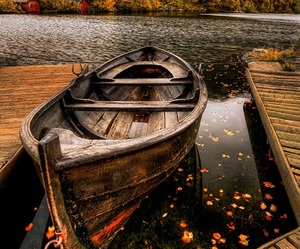 boat, photography, and autumn image