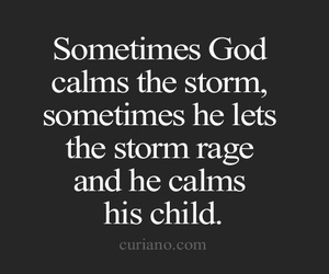 quote, god, and storm image