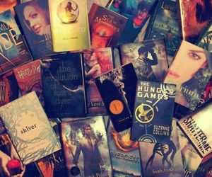 book, harry potter, and the hunger games image