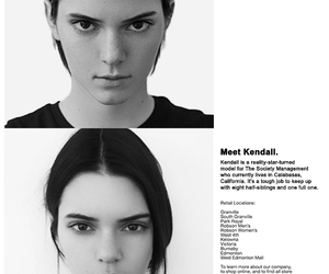 kendall jenner, american apparel, and black and white image