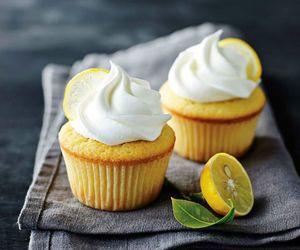 cake, cupcake, and lemon image