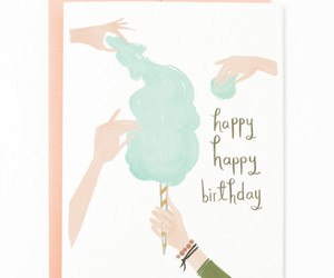 card, cotton candy, and happy birthday image