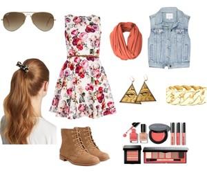 boots, dress, and fashon image