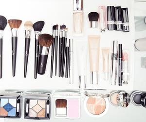 Foundation, lipstick, and mascara image