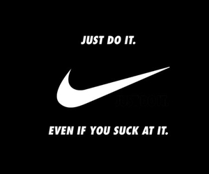 black, suck, and nike image