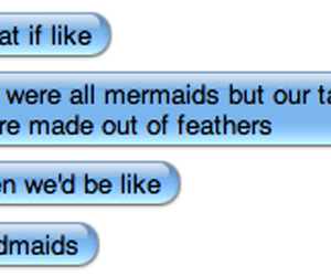 feathers, mermaids, and tails image