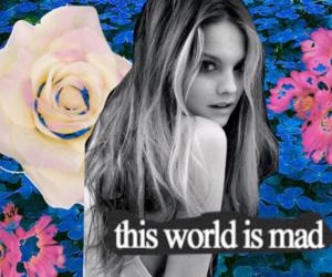 girl, mad, and world image