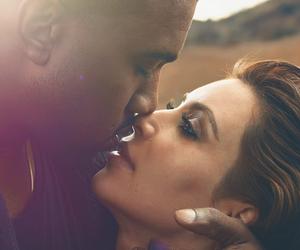 kanye west, kim kardashian, and vogue image