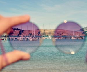 beach, hipster, and sunglasses image