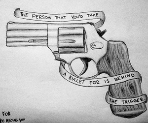 gun, quotes, and fall out boy image