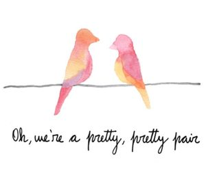 quote, love, and birds image