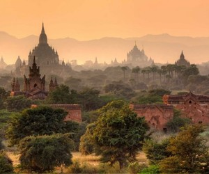 myanmar, nature, and bagan image