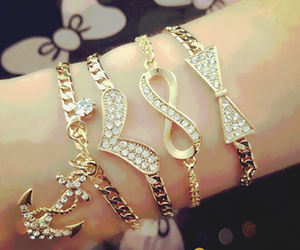 bracelet, accessories, and infinity image
