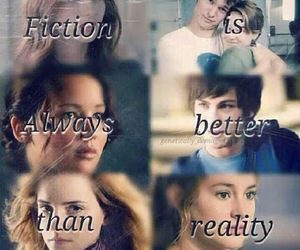 divergent, harry potter, and reality image