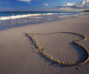 heart, ocean, and water image