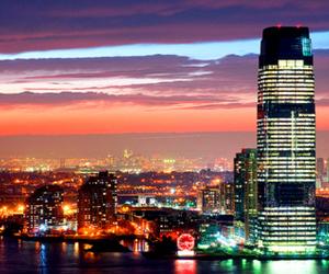 lights, city, and night image