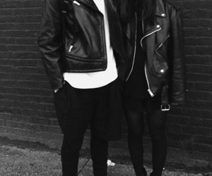 couple, black, and leather image