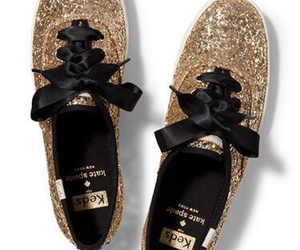 gold, kate spade, and keds image