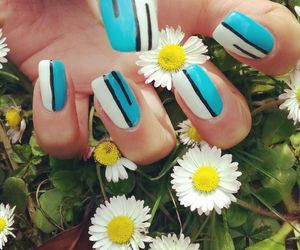 flowers, like it, and nail image