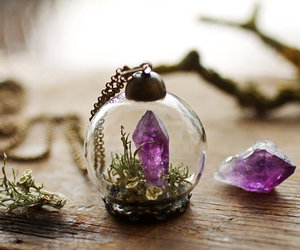 crystal, necklace, and purple image
