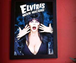 elvira, horror, and vintage image