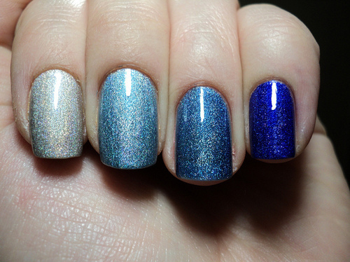 Blue Glitter Nail Polish Nails Nice Silver Inspiring Picture On Favim