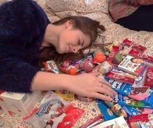 sweet, girl, and food image
