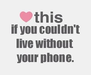 phone, heart, and live image