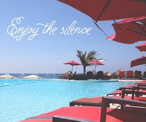 summer, silence, and pool image