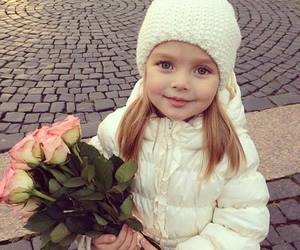 cute, girl, and flowers image