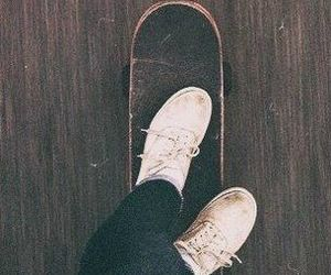 skate, hipster, and skateboard image