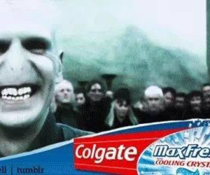 harry potter, voldemort, and colgate image