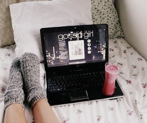gossip girl, bed, and socks image