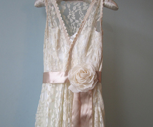 beautiful, beige, and bride image