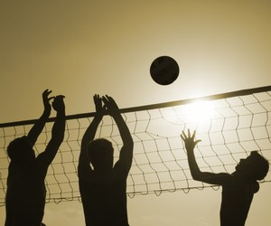 volleyball, beach, and sport image
