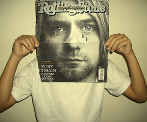 kurt cobain, rolling stone, and nirvana image